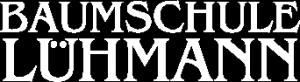 Weisses Logo Baumschule Lühmann